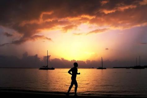 Jogging at Sunrise
