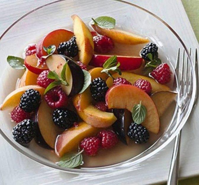 Lavender-Scented Summer Fruit Salad
